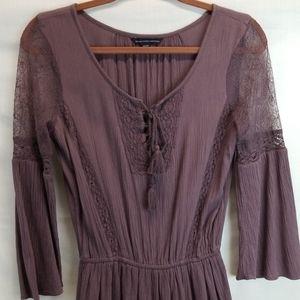 American Eagle Brown Boho Dress